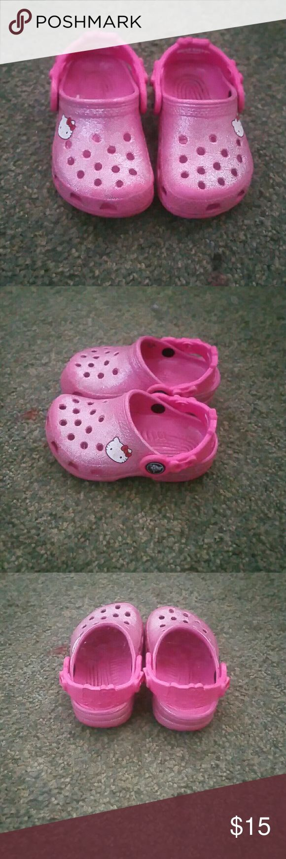 Crocs Hello Kitty crocs in great condition! Shoes Sandals & Flip Flops