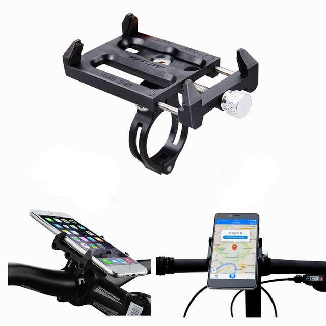 GUB G-83 Anti-Slip Universal Bicycle 3.5-6.2inch Phone Holder Mount Bracket for Smart Mobile Phone Handlebar Clip Stand Sale - Banggood.com