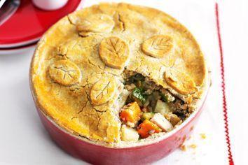 Gluten-free chicken and vegetable pie