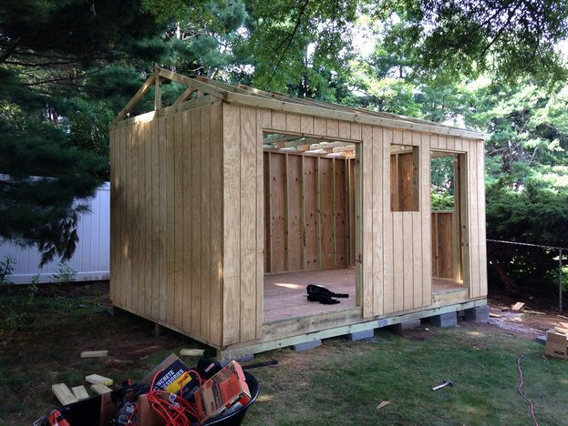 how to build a ground for shed