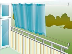 Balkon: Sonnenschutz
