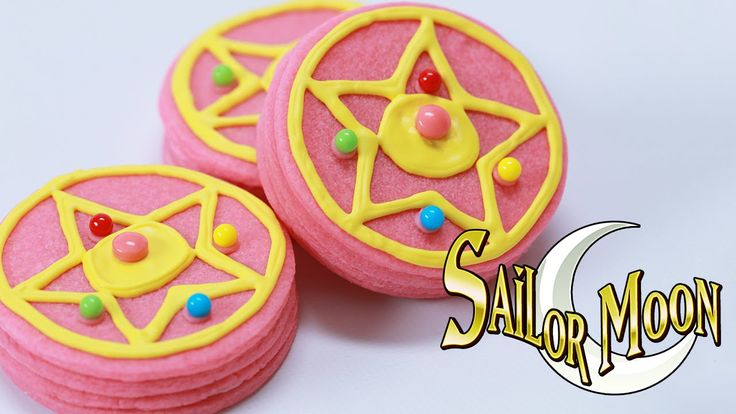 SAILOR MOON TRANSFORMATION BROOCH COOKIES - NERDY NUMMIES... No lie almost screamed with joy when I was this on my subscription feed.