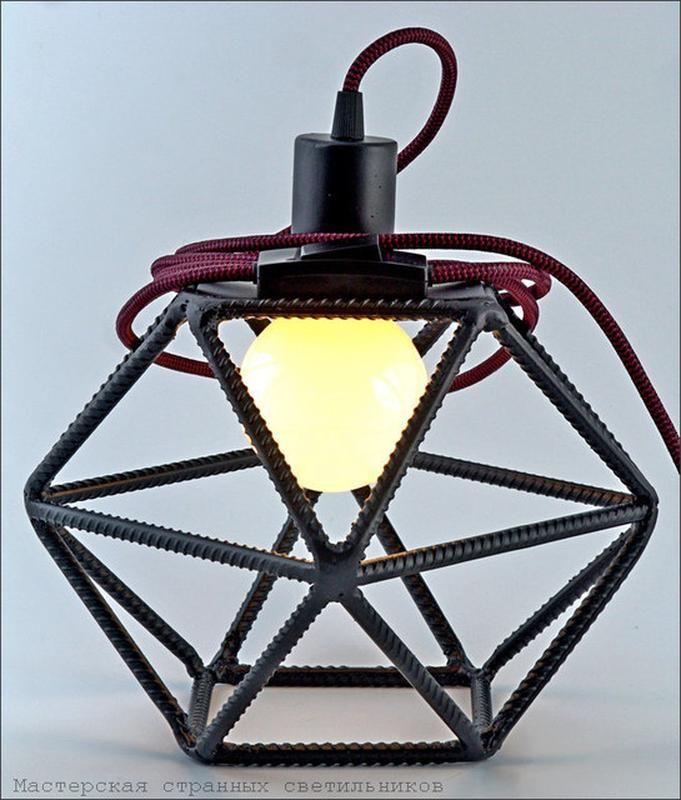 Напольный светильник из арматуры. Ручная работа. Авторский элемент интерьера. Стиль лофт