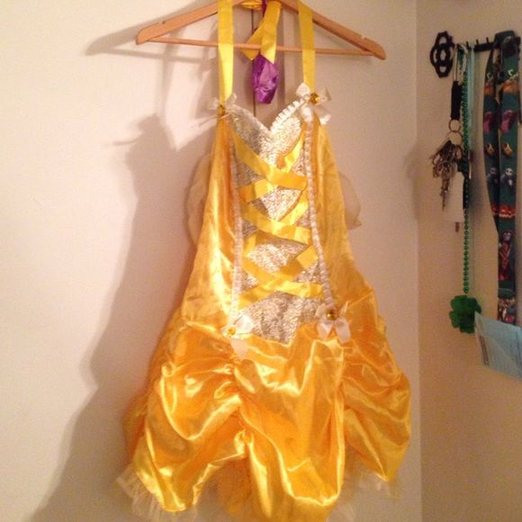 Disney Belle Dress Up be the book smart beauty Belle. Leg Avenue Belle Halloween costume. Never worn. Size m/L. Great for comic cons, events, or just playing dress up ...Trades, sales only (saving for my poshmark wedding dress purchase) Leg Avenue Dresses