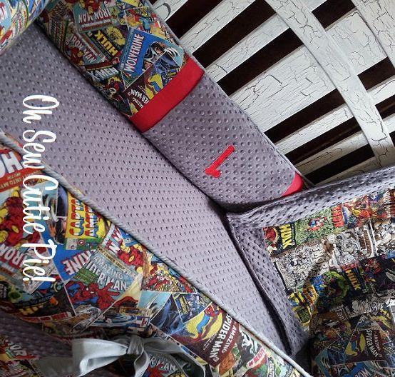 Superhero baby bedding, Superhero nursery with personalization - DC Comics, Avengers, Marvel, Vintage comics by OhSewCutiePie on Etsy https://www.etsy.com/listing/206631312/superhero-baby-bedding-superhero-nursery