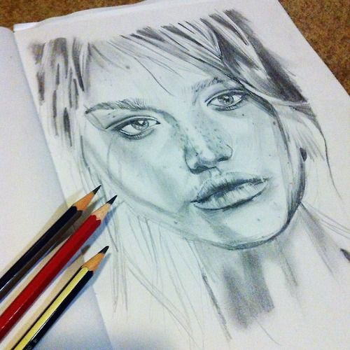 my drawing of gemma ward
