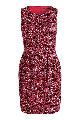 Bold leopard print dress