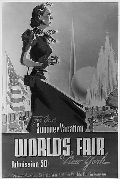 New york worlds fair publicity posters summer vacation