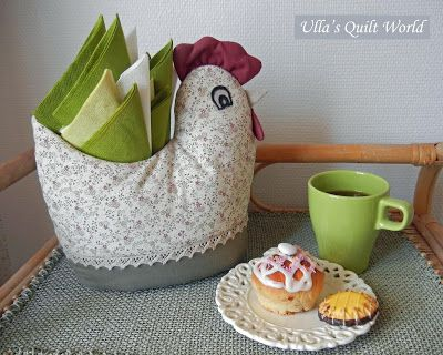Ulla's Quilt World: Quilted Easted chicken