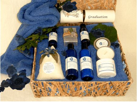 Graduation Spa Gift Basket: Celebrate this exciting rite of passage that marks the end of high school or college days and the beginning of a new stage of life. The graduate will surely appreciate this exquisite graduation spa gift basket that invites her/him to finally relax and get motivated for their future.  http://www.blissfulbalance.com/graduation-spa-gift-basket/