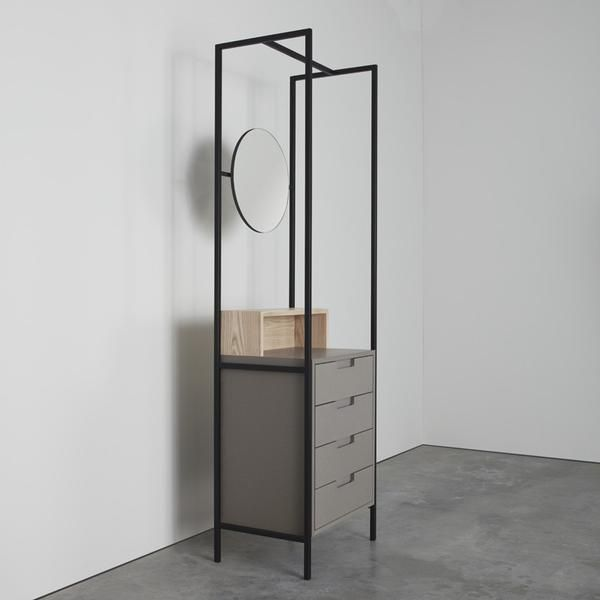 The Alexandra is encased within a steel frame and includes four storage drawers. It comes with either a rose tinted or standard silver mirror.