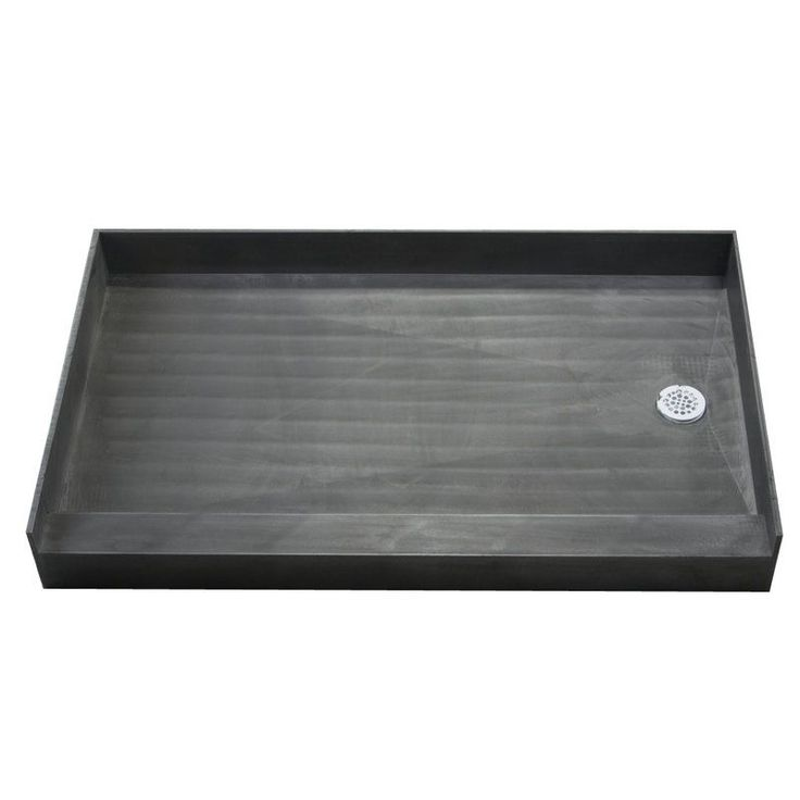 "Buy the Tile Redi 3054R-PVC Black Direct. Shop for the Tile Redi 3054R-PVC Black 30"" x 54"" Three Wall Alcove Shower Pan with Single Curb and 2"" Right-Side Drain and save."