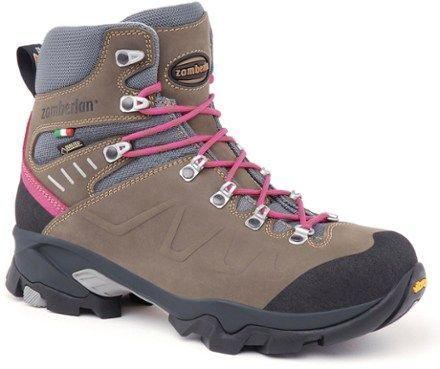 Durable yet light, the women's Zamberlan Quazar GTX RR hiking boots offer comfort and protection for extended backpacking and long hikes, either on trail or in the backcountry. Available at REI, 100% Satisfaction Guaranteed.