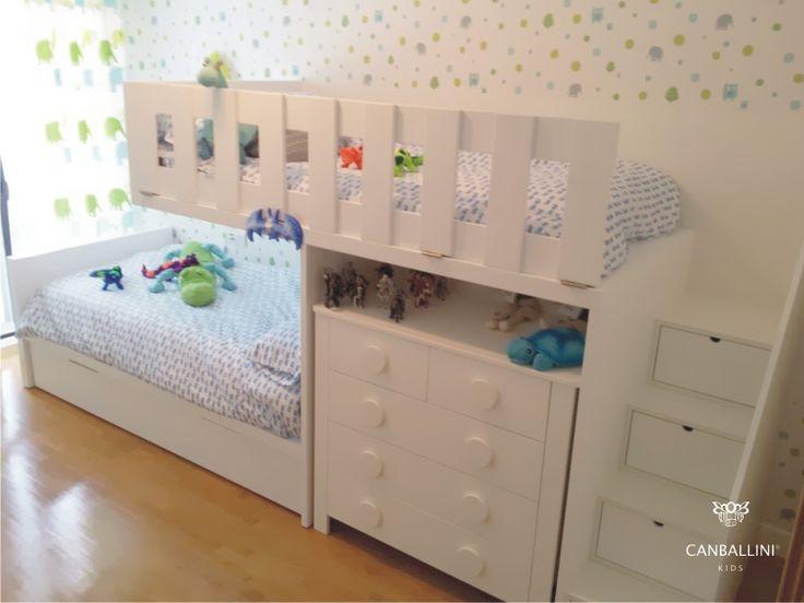 136 best literas images on pinterest nursery babies nursery and babies rooms - Habitaciones juveniles tipo tren ...