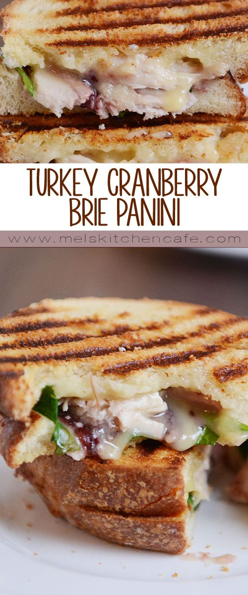 The absolute best way to use Thanksgiving leftovers, this turkey cranberry brie sandwich panini is one of my all-time favorite sandwiches!