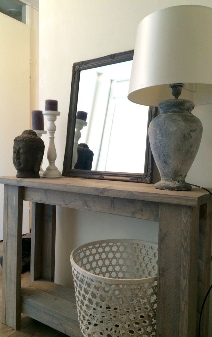 Harkavy furniture focuses on modern pieces made of wood and steel - Hall In My House Wooden Table With Accessories