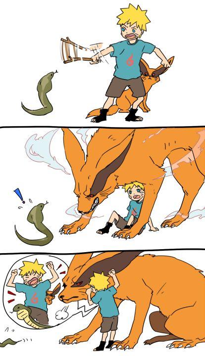 Naruto and Kurama melhor dupla