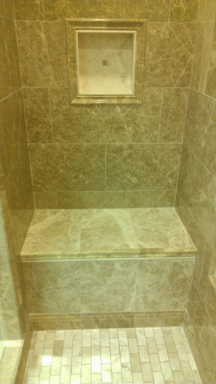 29 best images about shower on pinterest travertine for Bathroom niche design