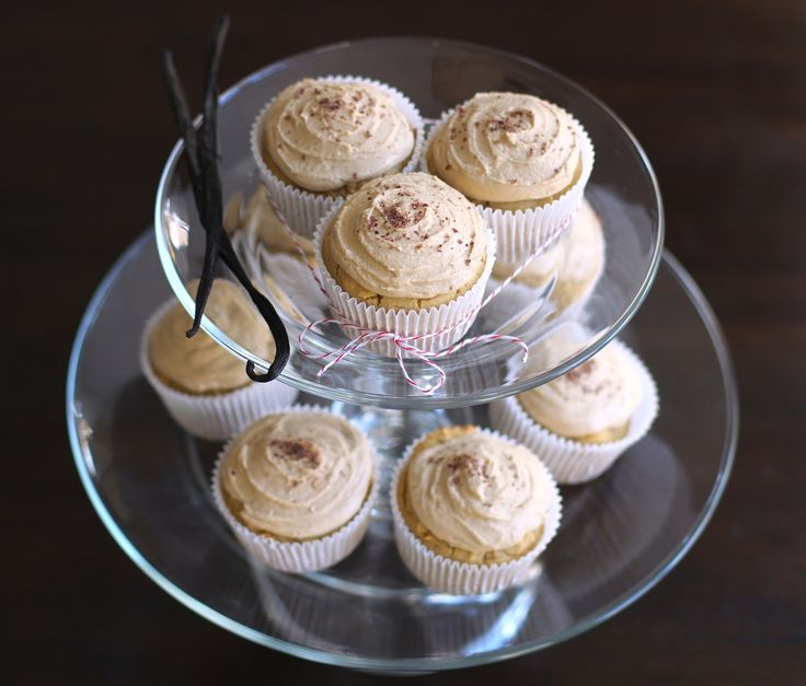 Vanilla Toffee Quinoa Cupcakes with Toffee Frosting