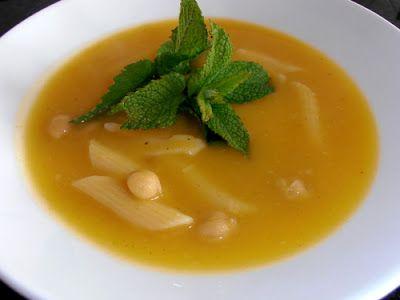 ♥ Mimos de Mãe ♥: Creme de Grão com Hortelã e Penne