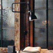 noch in Produktion: Werkstattlampe schwenkbar mit Doppel-Gelenk von Lampe Gras
