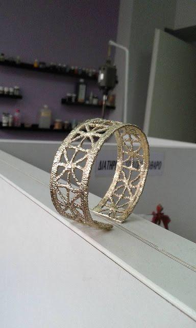 metal  Lace Jewelry, handmade jewellery - Kiki