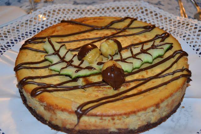 """Tarta de castañas, receta ganadora (Dulce) en el V Concurso de recetas """"Cocina con castaña de Galicia""""."""
