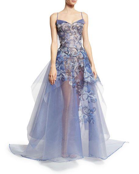 58 best pretty dresses images on pinterest dress skirt evening embroidered guipure sleeveless ball gown multi garden by zac posen at neiman marcus junglespirit Images