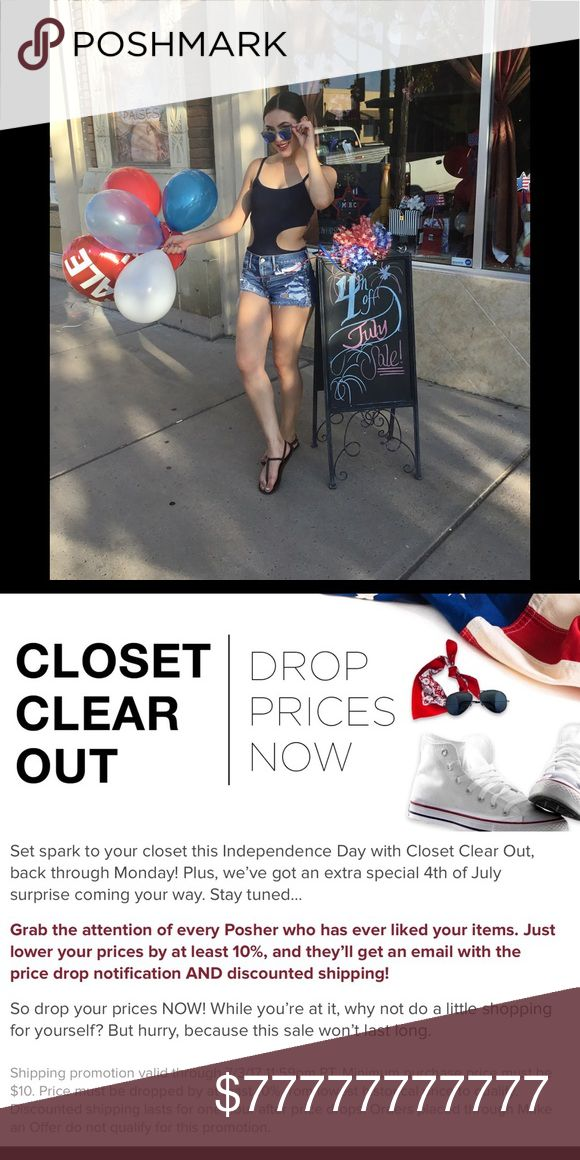 Closet Weekend Deals! Two choices for you all this weekend! Interested in one item, let me know and I'll reduce the price for discounted shipping. Interested in a bundle, I just changed my discount to 15% off all bundles. Have a safe and happy Independence Day Weekend! 🇺🇸🌞🍻🥂🌭🍔🎇🗽 Closet Sale! 🇺🇸 Other