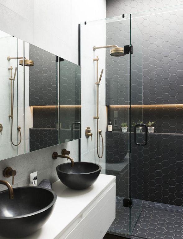 Black Shower Tiles Design Ideas Trendy Bathroom Bathroom Design Bathroom Inspiration