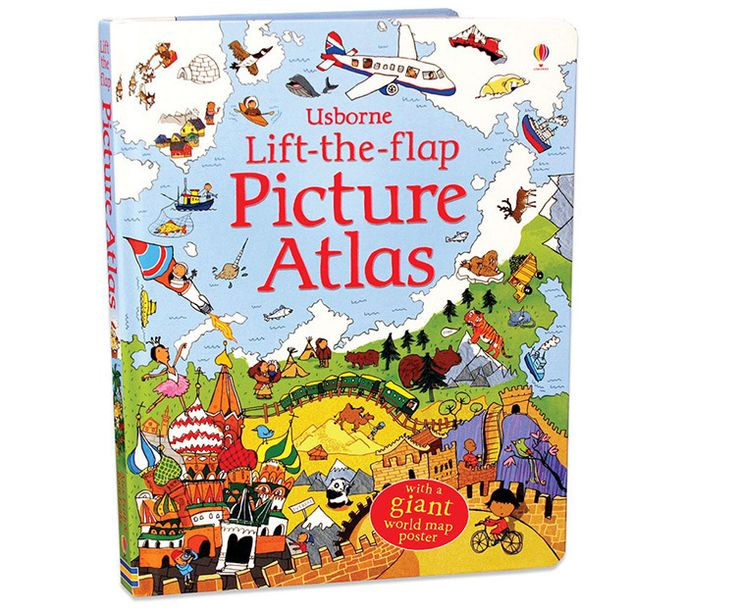 Educational Lift the Flap Picture Atlas for Kids:  Price: $24.99 & FREE Worldwide Shipping.  Visit us and see our 300+ catalog.  We sell toys, materials and costumes with a learning purpose.  Your kids will thank you later!
