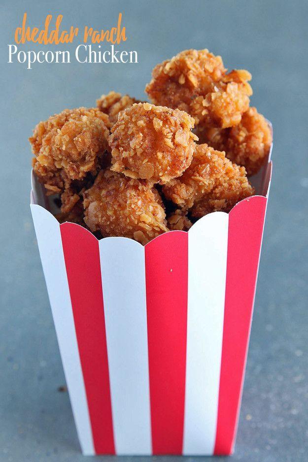 Cheddar Ranch Popcorn Chicken