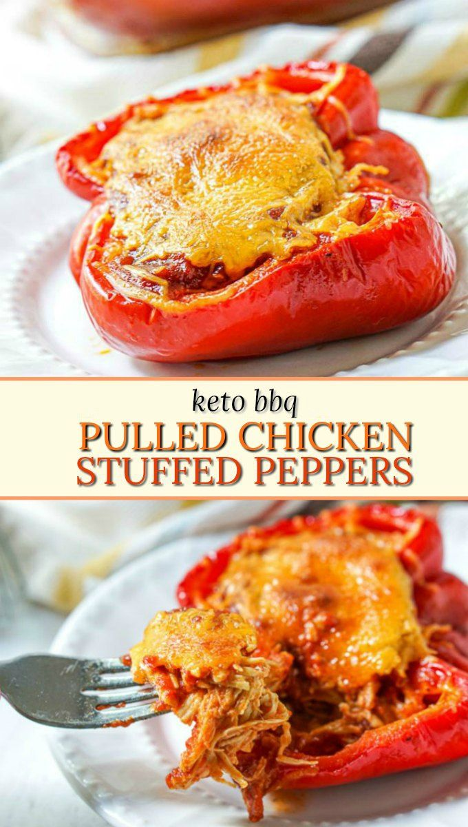 Keto Bbq Shredded Chicken Stuffed Peppers With Low Carb Bbq Sauce Recipe In 2020 Low Carb Bbq Sauce Stuffed Peppers Keto Recipes Easy