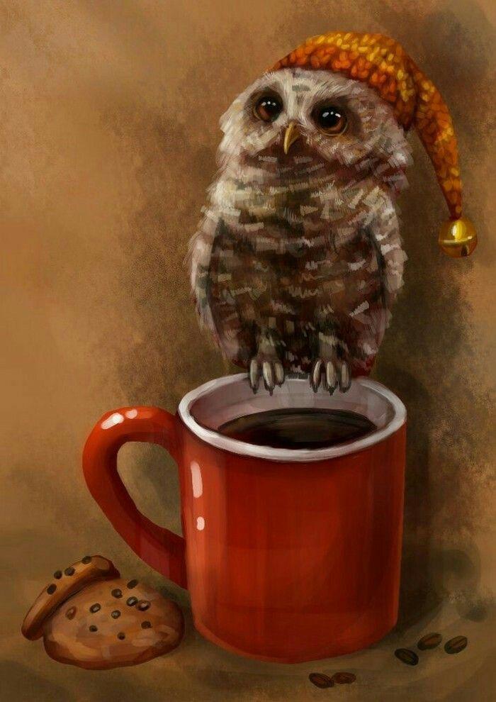 Картинка с совенком доброе утро