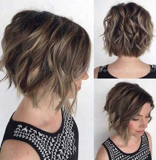 Stylish Short Haircuts for Thick and Wavy Hair | http://www.short-haircut.com/stylish-short-haircuts-for-thick-and-wavy-hair.html