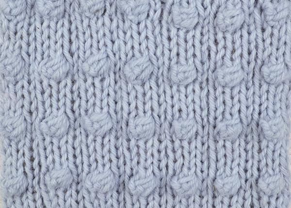 Add some texture to your knitting with this weekend's Stitch of the Week. Brilliant for those looking to advance from simpler stitches, the Popcorn Stripe Stitch works basic techniques into a detailed design.  Popcorn Stripe Stitch This stitch is worked over a multiple of 4 stitches plus 1. 6 rows form the pattern. 1st row (RS): P1, * K3, P1, rep from * to end. 2nd row: K1, * P3, K1, rep from * to end. 3rd row: As 1st row. 4th row: As 2nd row. 5th row: P1, * K1, K into front, back, front...