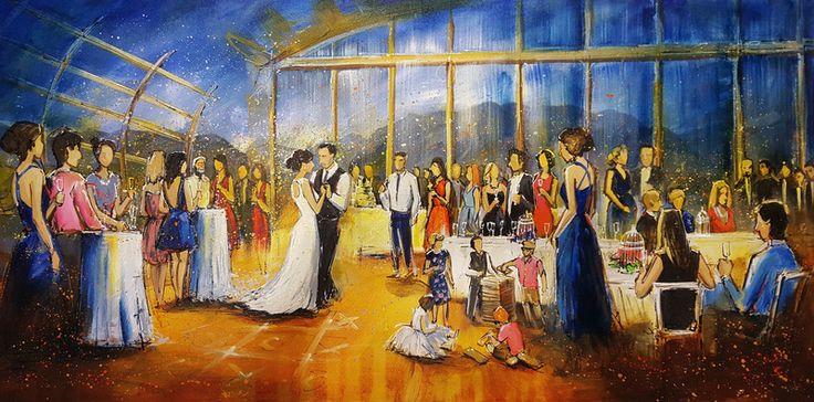 Wedding at @ubcboathouse, painting by by Firebird Live Art.  #wedding #weddingideas #weddingentertainment #vancouverwedding #weddingpainting #weddingart #liveart #livepainting