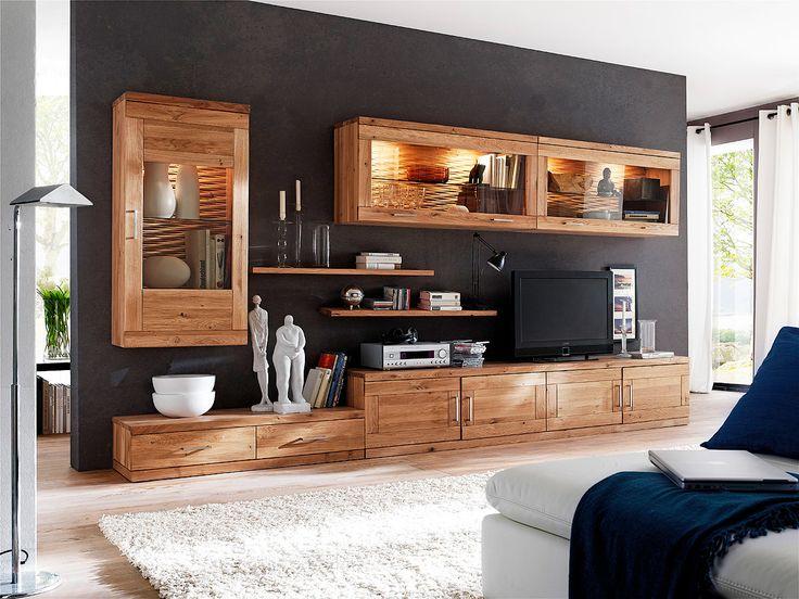 20 besten Wohnzimmer Bilder auf Pinterest Einrichtung - wohnzimmer wildeiche massiv
