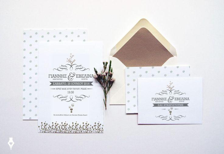 Προσκλητήριο γάμου με αγριολούλουδα για γάμο στη Ρόδο. #wedding #invitation #wildflowers #summer #inspiration #Rhodesisland #stationery #typography #customdesign #προσκλητήριο #γάμου #αγριολούλουδα #Ρόδος #γάμος_σε_νησί