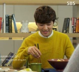 ep4 Kang Min Hyuk as Yoon Chan Young : customellow knit  [The Heirs]