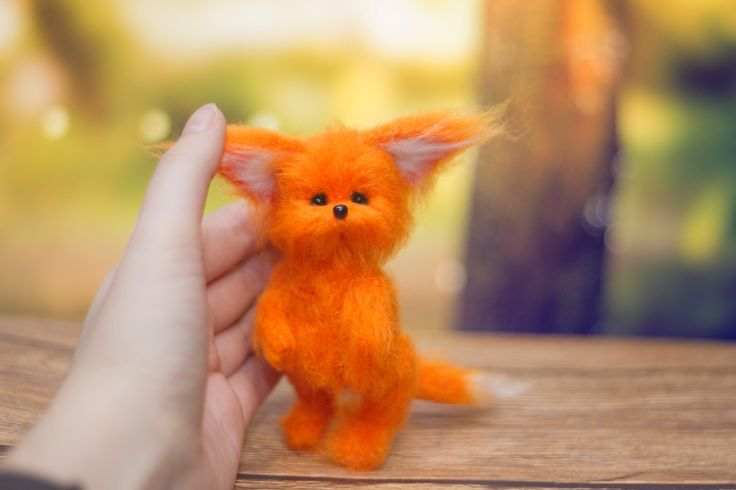amigurumi fox, вязаный лисенок