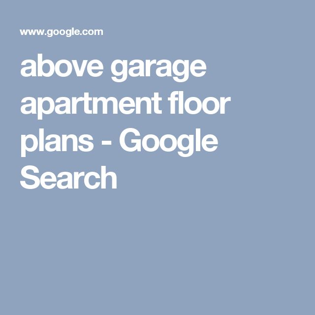 above garage apartment floor plans - Google Search