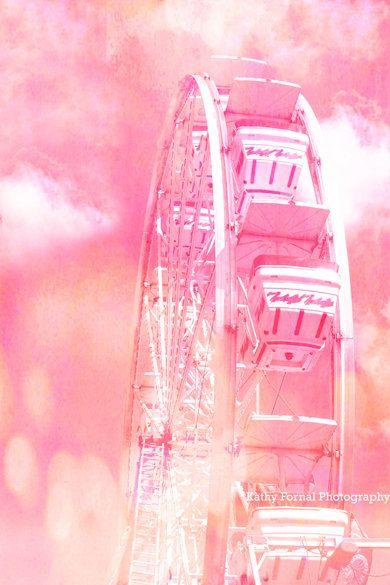 Pink Ferris Wheel Prints Dreamy Baby Girl Pink by KathyFornal