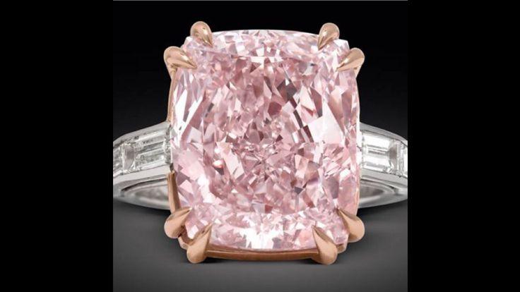 Topacio rosa y diamantes