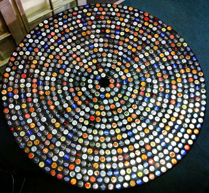 Bottlecap Patio Table by Mosaic Madness