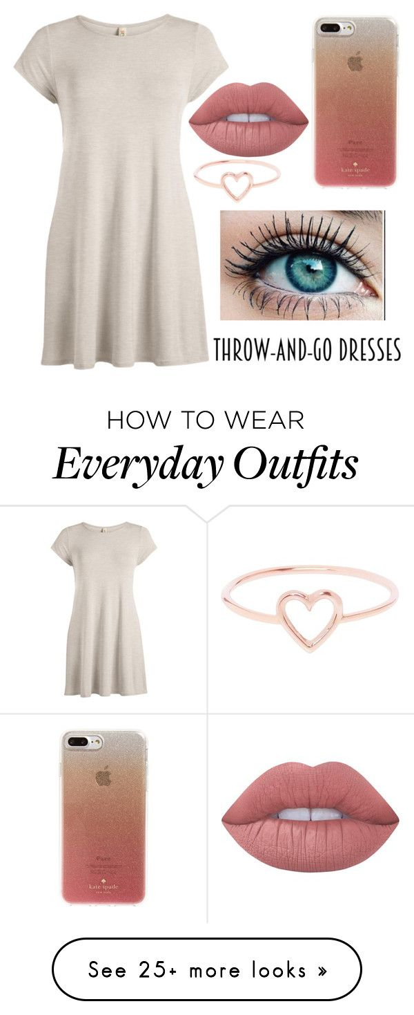 """""""THROW-AND-GO DRESS!!!!"""" by jewels6555 on Polyvore featuring Kate Spade, Lime Crime and Love Is"""