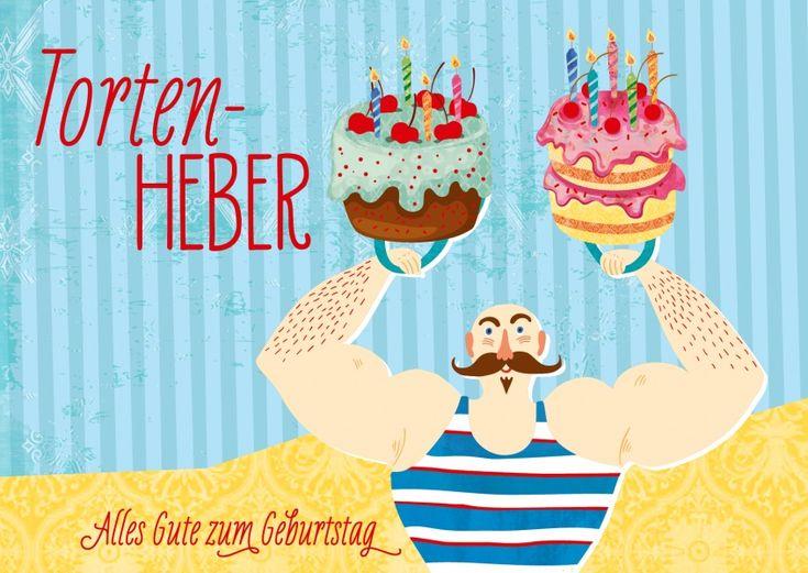 Tortenheber | Happy Birthday | Echte Postkarten online versenden | Gutsch Verlag