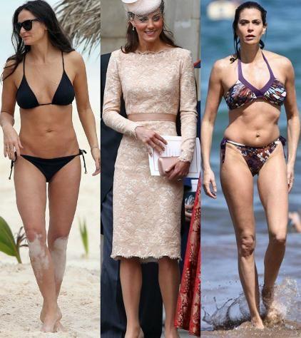 Postava typu trojuholník (V) http://www.supervizaz.net/postava-v.php Demi Moore, vojvodkyňa Kate, Teri Hatcher