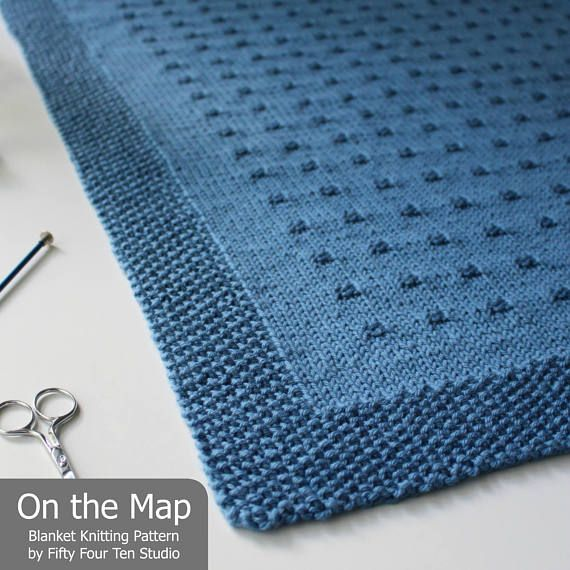 """The On the Map Blanket KNITTING PATTERN is easy to knit with worsted weight yarn ************* Pattern includes directions for SIX sizes: Approximate sizes after blocking… Baby: 28.25"""" wide x 31"""" long Small: 30"""" wide x 34"""" long Medium: 33"""" wide x 43.5"""" long Large: 37.75"""" wide x"""