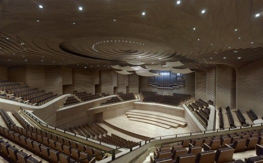 auditorium modern teather china architecture archdaily http://www.archdaily.com/282007/tianjin-grand-theater-gmp-architekten/